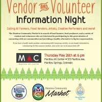 Manitou Community Market presents: Vendor and Volunteer Information Night