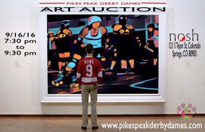 Pikes Peak Derby Dames Art Auction presented by Pikes Peak Derby Dames at Nosh Restaurant, Colorado Springs CO