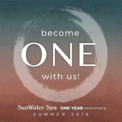Sunwater Spa Become One With Us Year Anniversary Celebration