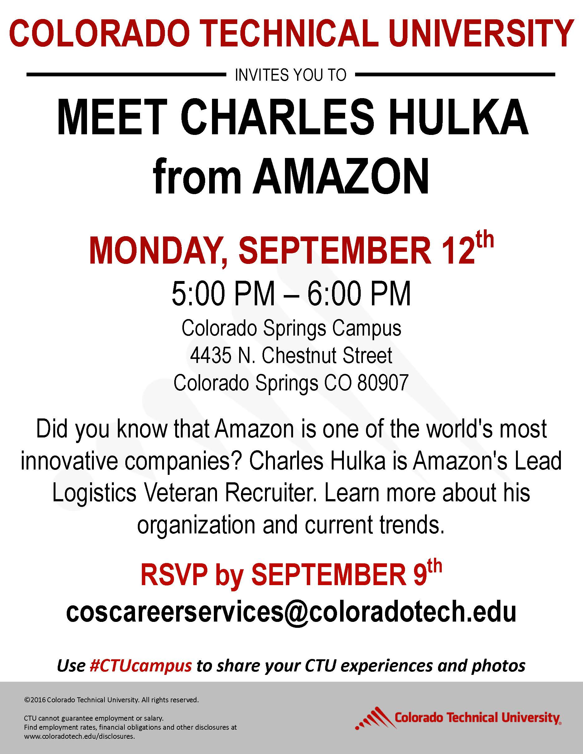 Amazon Meet & Greet with Charles Hulka presented by Colorado