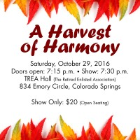 A Harvest of Harmony presented by Velvet Hills Chorus at ,