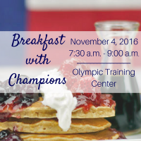 Breakfast with Champions Fundraiser presented by United States Association of Blind Athletes at Olympic Training Center, Colorado Springs CO