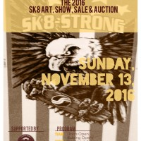 Sk8-Strong Skateboard Art Show, Sale and Auction