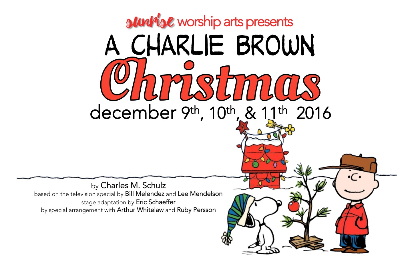 Sunrise Church presents Musical Program and \'A Charlie Brown ...