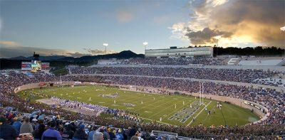 Falcon Stadium located in Colorado Springs CO