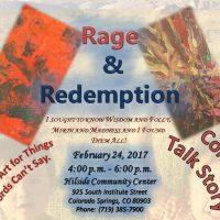 'Rage & Redemption' presented by ARTSpace Gallery: Hillside Community Center at ARTSpace Gallery, Hillside Community Center, Colorado Springs CO