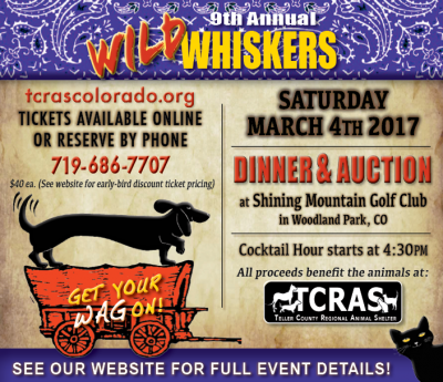 Wild Whiskers – Get Your WAGon presented by Peak Radar Live: Colorado Springs Dance Theatre at Shining Mountain Golf Club, Woodland Park CO