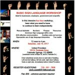 Basic Sign Language Workshop presented by  at ,