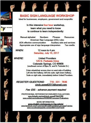 Basic Sign Language Workshop presented by Peak Radar Live: Colorado Springs Dance Theatre at ,