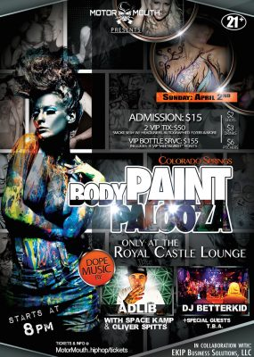 Body Paint Palooza presented by December First Friday in the Pikes Peak Region at ,
