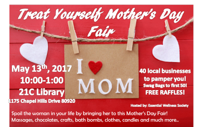 Treat Yourself Mother's Day Fair presented by Treat Yourself Mother's Day Fair at PPLD - Briargate Library, Colorado Springs CO