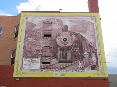 Number 8 Train at Rosemount Station 1910