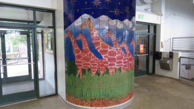 Zoo-Giraffe House donor wall