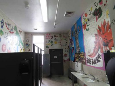 Ivywild School: Boys Restroom math and science