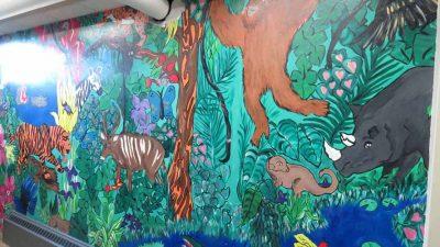 Ivywild School: Downstairs Girls Bathroom Jungle