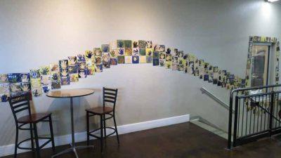 Ivywild School: Tiles with school spirit mottos an...