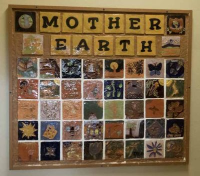 Ivywild School: Mother Earth tile mosaic