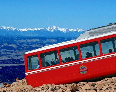 Broadmoor Pikes Peak Cog Railway located in Manitou Springs CO