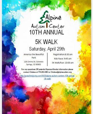 Alpine Autism Center's 10th Annual 5K Walk