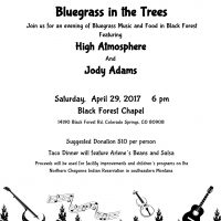 Bluegrass in the Trees presented by Black Forest Chapel at Black Forest Chapel, Colorado Springs CO