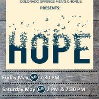 Out Loud Colorado Springs Men's Chorus Spring Concert: 'HOPE'