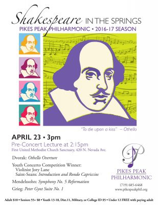 Pikes Peak Philharmonic presents: 'Shakespeare in the Springs'