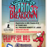 Spring Breakdown Volleyball Tournament presented by BooDad's Beach House Grill at ,