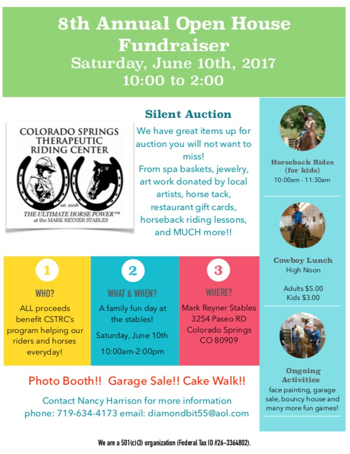 Colorado Springs Therapeutic Riding Center's Open House Fundraiser