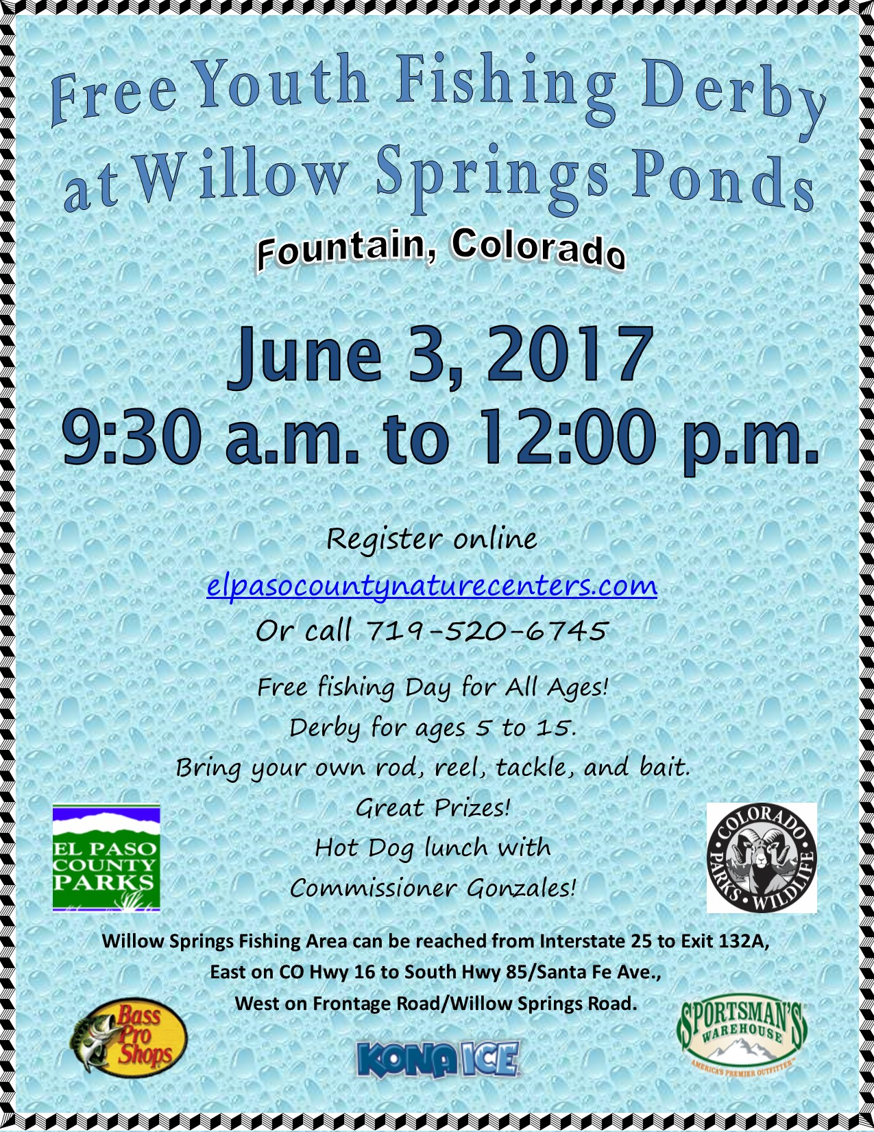 Youth fishing derby presented by el paso county parks for El paso fishing