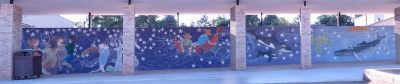 Steele Elementary: Whale Wall