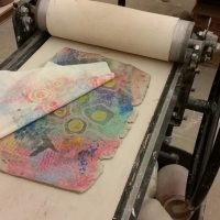 STAR Nights | Adults | Monoprinting with Clay presented by Textiles West at Cottonwood Center for the Arts, Colorado Springs CO