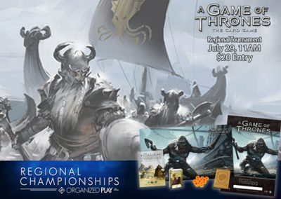 A Game of Thrones LCG Regional Tournament presented by Petrie's Family Games at Petrie's Family Games, Colorado Springs Colorado