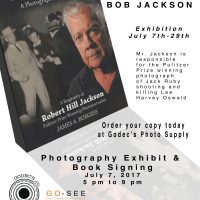 Bob Jackson: A Photographer's Story – Book Signing & Photography Exhibition presented by Cloutier Fotographic at Go See Art Venue, Colorado Springs CO