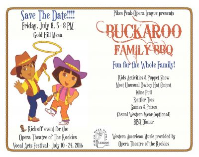 Buckaroo BBQ II presented by Pikes Peak Opera League at ,