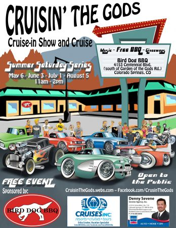 Cruisin The Gods Car Show And Cruise Presented By Bird Dog BBQ - Old school car show colorado springs