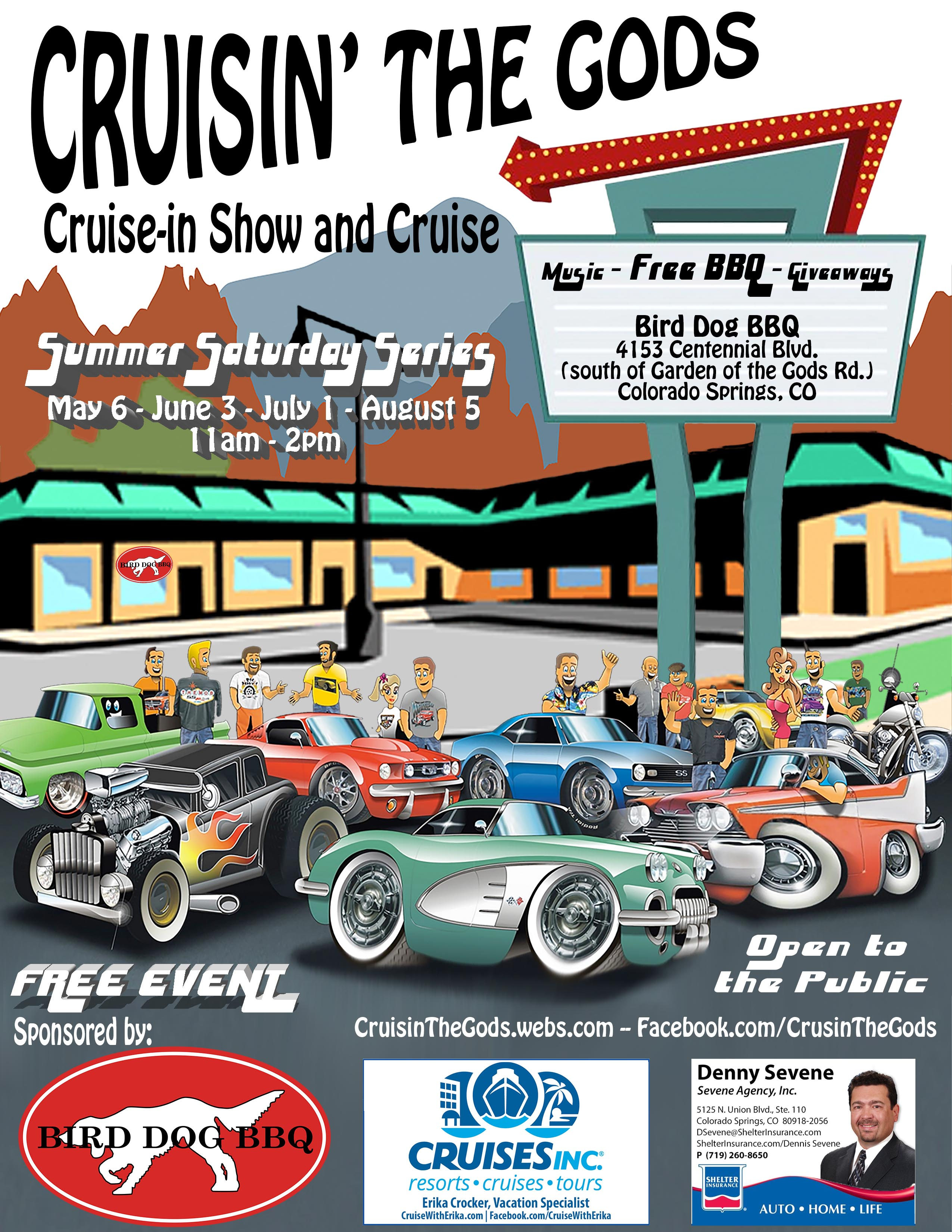 Cruisin The Gods Car Show And Cruise Presented By Bird Dog BBQ - Car show schedule