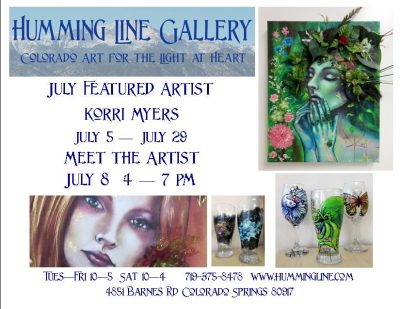 Meet the Artist: Korri Myers presented by ArtPOP Series: A Conversation with Vanessa Little at Humming Line Gallery, Colorado Springs CO