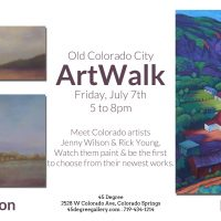 Jenny Wilson and Rick Young presented by 45 Degree Gallery at 45 Degree Gallery, Colorado Springs CO