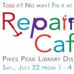 Repair Café presented by PPLD: Sand Creek Library at PPLD - Sand Creek Library, Colorado Springs CO