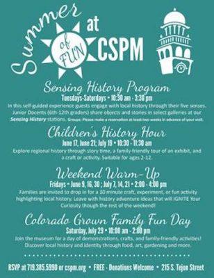 Sensing History presented by Colorado Springs Pioneers Museum at Colorado Springs Pioneers Museum, Colorado Springs CO