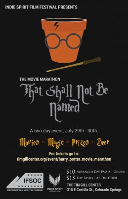 The Movie Marathon That Shall Not Be Named presented by Independent Film Society of Colorado at Tim Gill Center for Public Media, Colorado Springs CO