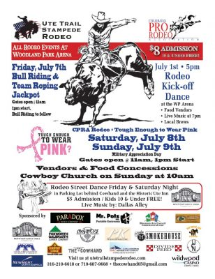 Ute Trail Stampede Rodeo presented by Peak Radar Live Later: July First Friday at ,