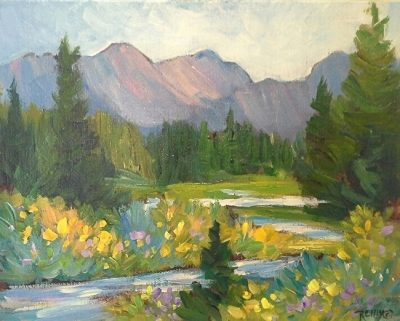 Beginning Acrylic Painting: Colorado Summer Mountains presented by Laura Reilly Fine Art Gallery and Studio at Westside Community Center, Colorado Springs CO