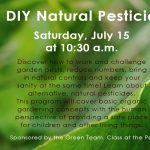 D.I.Y. Natural Pesticides presented by  at ,