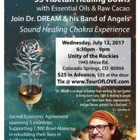 Dr. Dream and His Band of Angels: Sound Healing Chakra Experience presented by Unity Spiritual Center in the Rockies at ,