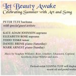 Let Beauty Awake: Celebrating Summer With Art and Song presented by  at Cottonwood Center for the Arts, Colorado Springs CO
