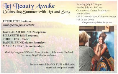 Let Beauty Awake: Celebrating Summer With Art and Song presented by Peak Radar Live Later: July First Friday at Cottonwood Center for the Arts, Colorado Springs CO