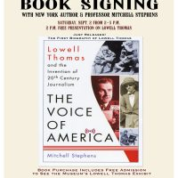 Lowell Thomas Book Signing