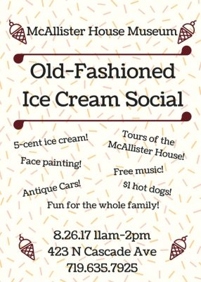 Old-Fashioned Ice Cream Social
