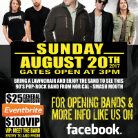 CANCELLED: Smash Mouth Live at BooDad's presented by BooDad's Beach House Grill at ,